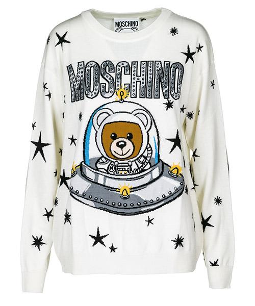 Maglione Moschino A090554011001 bianco