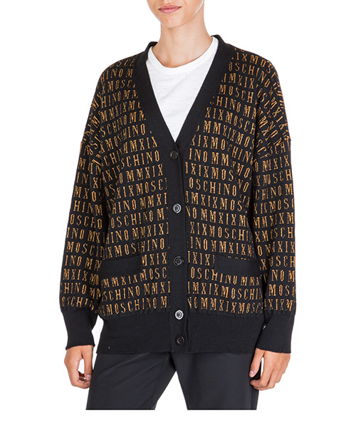 Strickjacke Moschino MMXIX A092955012555 nero