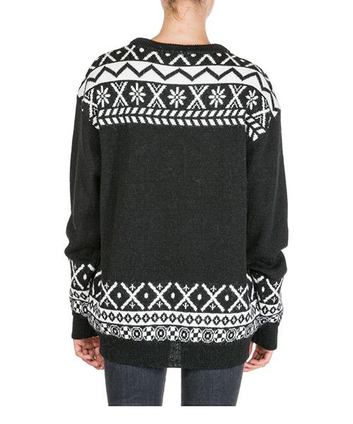 Women's jumper sweater crew neck round fair isle teddy bear secondary image