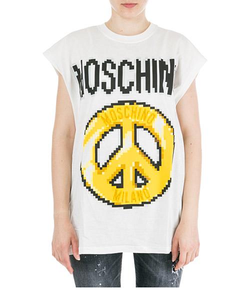 Women's t-shirt short sleeve crew neck round peace pixel capsule