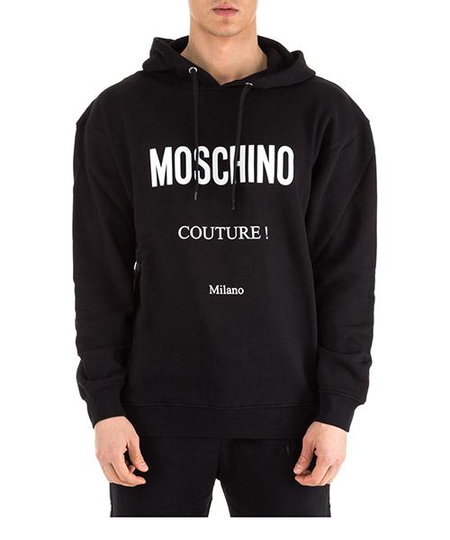Felpa con cappuccio Moschino A170102271555 nero