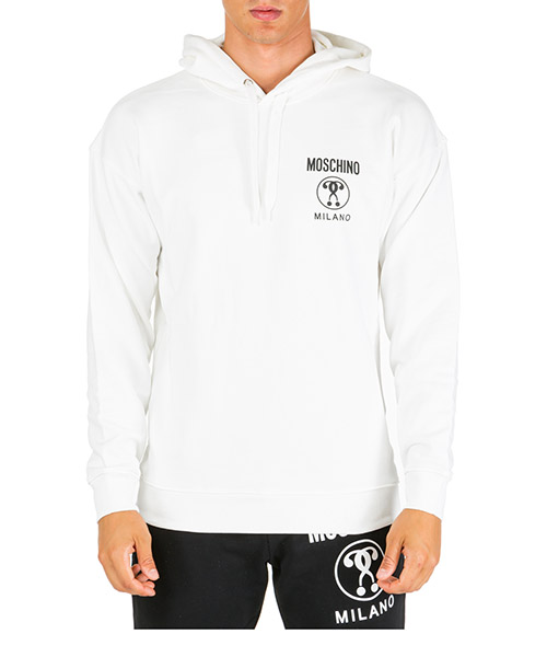 Men's hoodie sweatshirt sweat regular fit double question mark secondary image