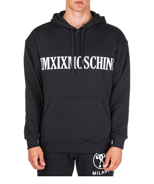 Sweat à capuche Moschino mmxix a170752271555 nero