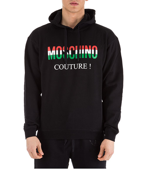 Felpa con cappuccio Moschino A170902271555 nero
