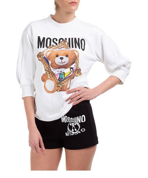 Sweatshirt Moschino frame teddy bear a171104271001 bianco