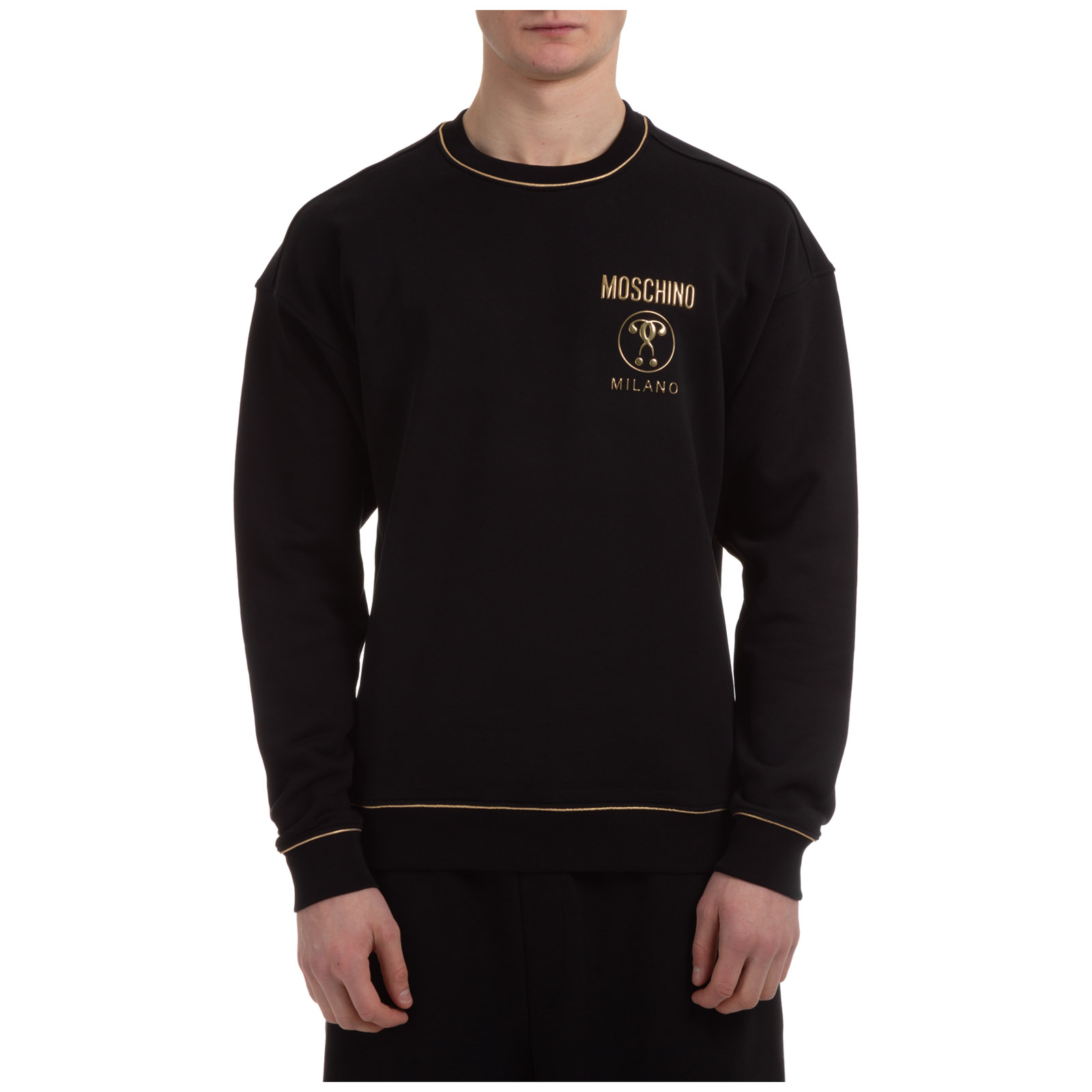 Moschino MEN'S SWEATSHIRT SWEAT  DOUBLE QUESTION MARK