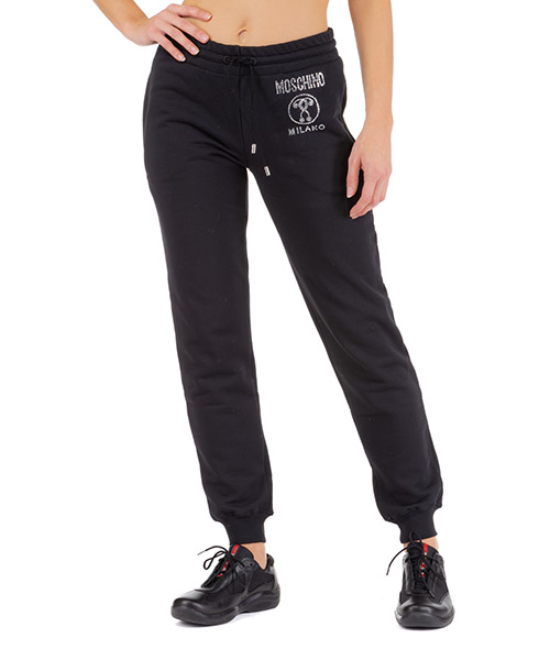 Tracksuit bottoms Moschino double question mark j031454272555 nero