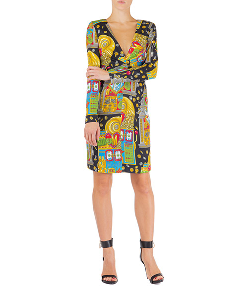 Mini dress Moschino slot machine j047554521555 nero