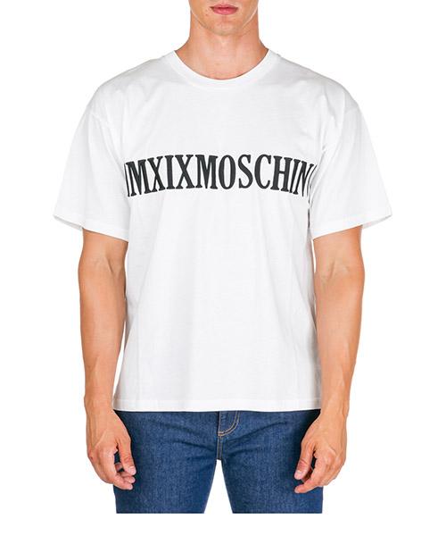T-shirt Moschino MMXIX  J070452401002 bianco
