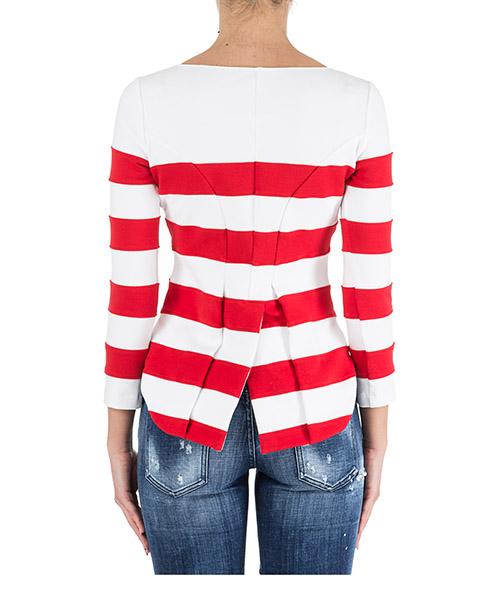 Damen t-shirt rundhalsausschnitt lange Ärmele secondary image