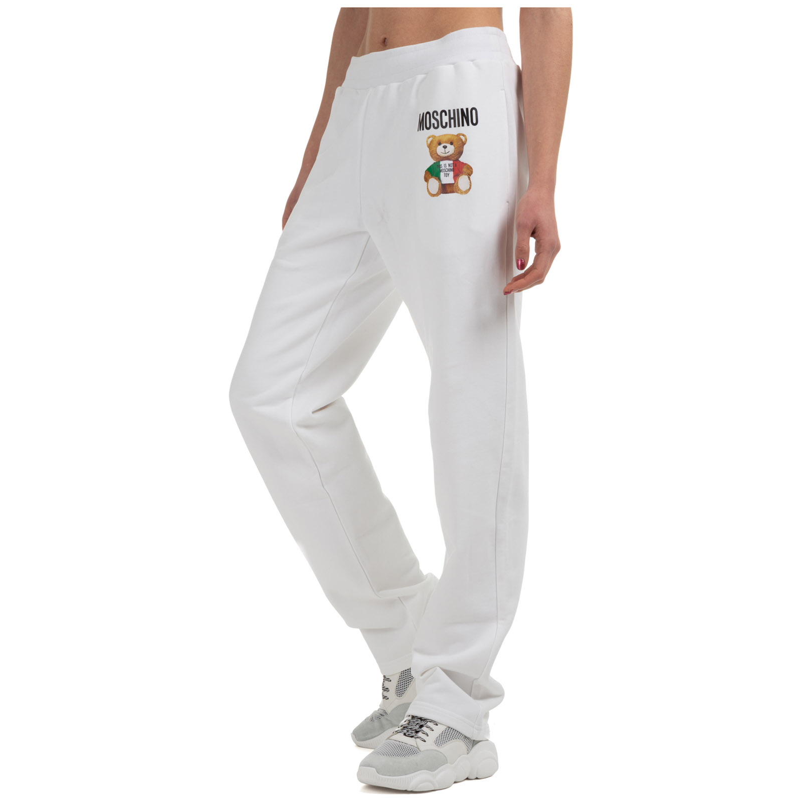 Moschino Pants WOMEN'S SPORT TRACKSUIT TROUSERS  TEDDY BEAR