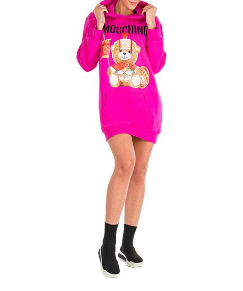 Mini dress Moschino Roman Teddy Bear V042755272219 fucsia