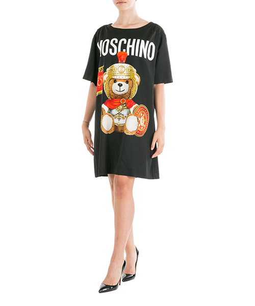 Robe courte  Moschino Roman Teddy Bear V043155651555 nero