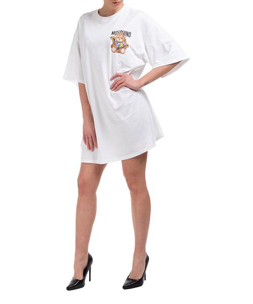 Mini dress Moschino frame teddy bear V044504401001 bianco