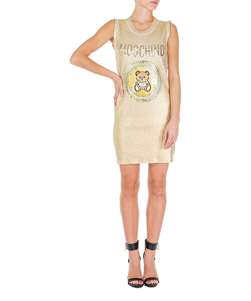 Knee length dresses Moschino teddy bear v049754021606 oro