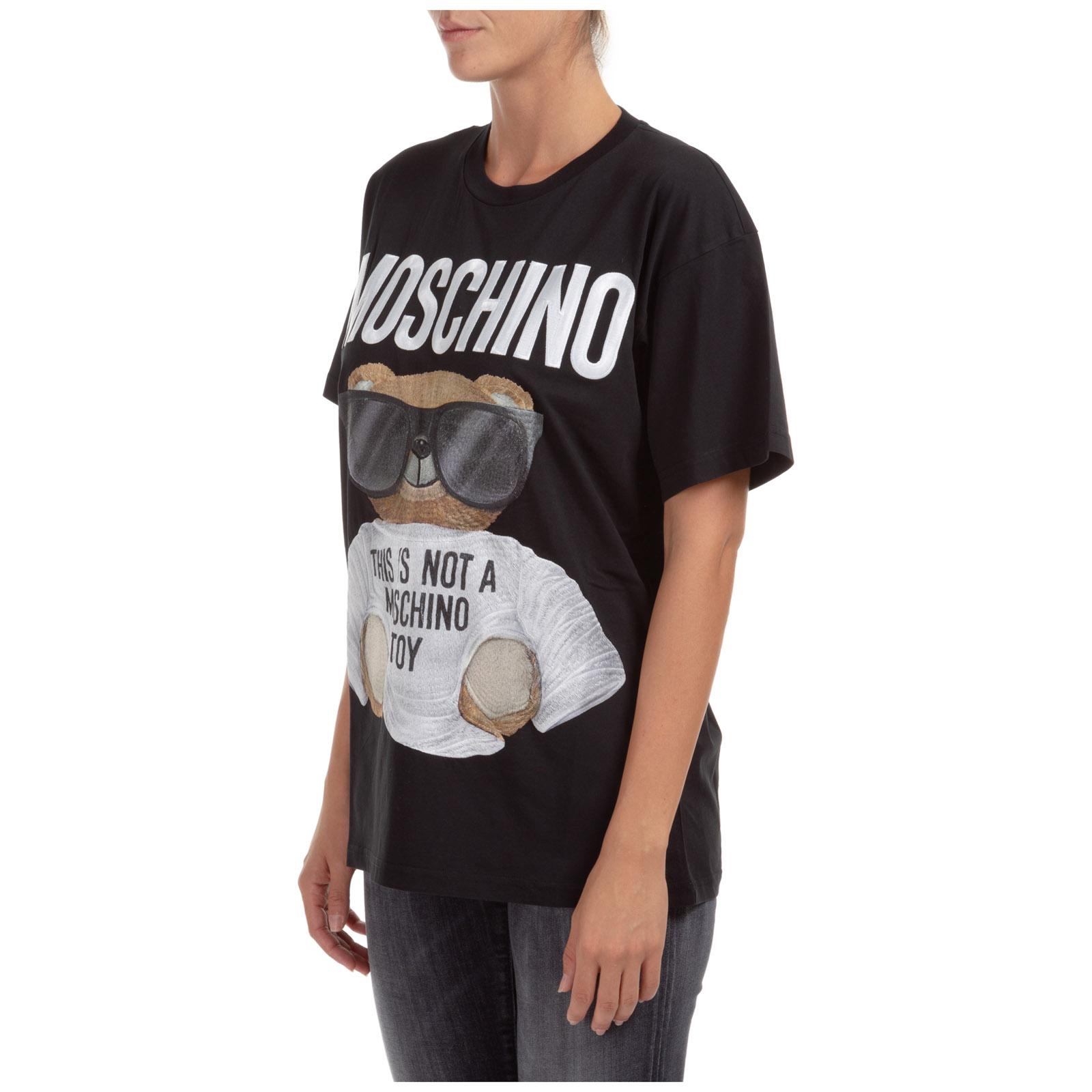 Women's t-shirt short sleeve crew neck round teddy bear