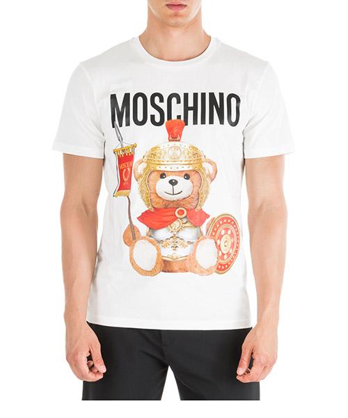 T-shirt Moschino Roman Teddy Bear V070152401002 bianco