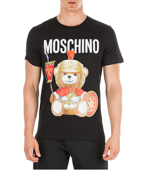 T-shirt Moschino Roman Teddy Bear V070152401555 nero