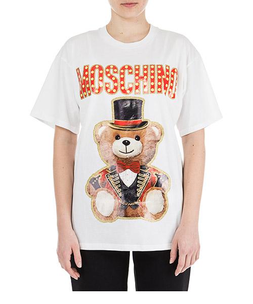 T-shirt Moschino teddy circus v070205403001 bianco