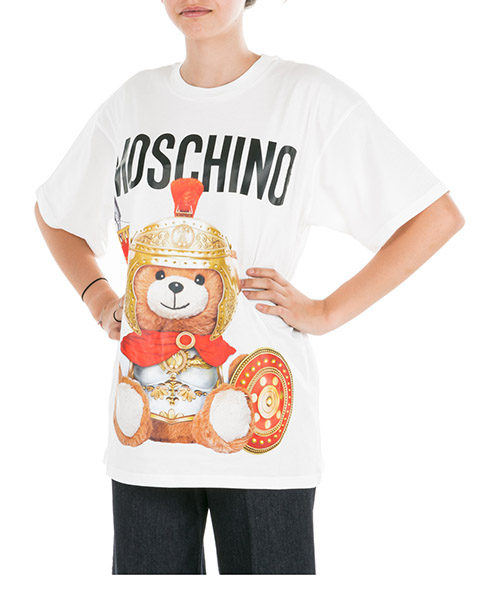 T-shirt Moschino Roman Teddy Bear V070355401002 bianco