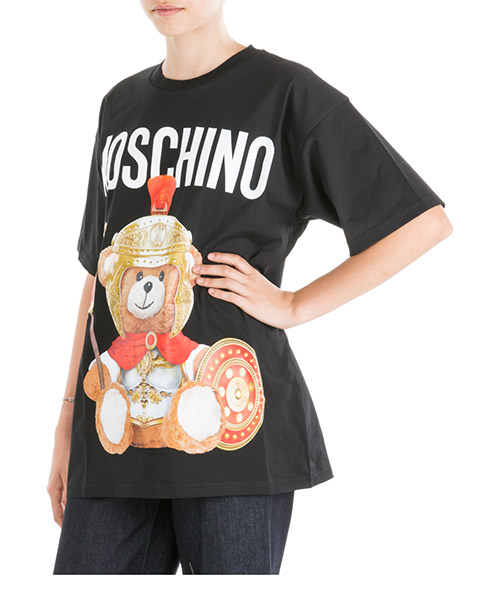 T-shirt Moschino Roman Teddy Bear V070355401555 nero