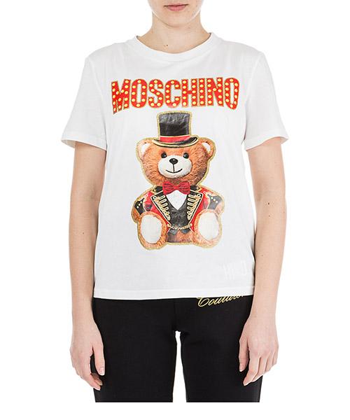 T-shirt Moschino Teddy Circus V070805403001 bianco