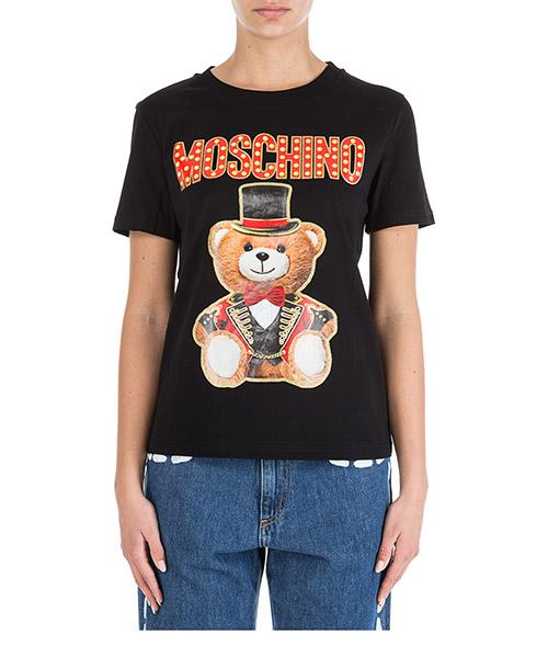T-shirt Moschino Teddy Circus V070805403555 nero