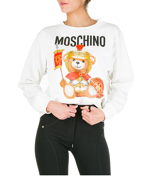 Sweat Moschino Roman Teddy Bear V170255272002 bianco