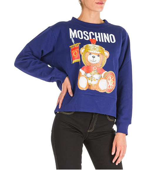 Sweat Moschino Roman Teddy Bear V170255272287 viola