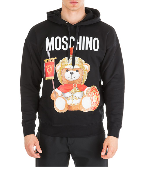 Sweat à capuche Moschino Roman Teddy Bear V170552271555 nero