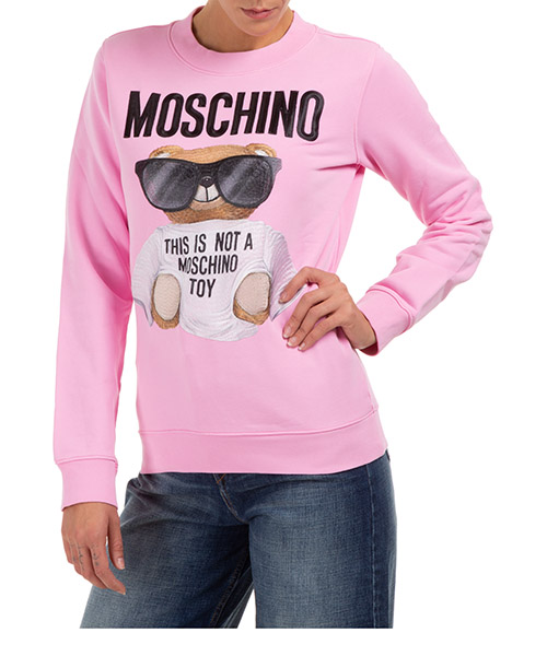 Sweatshirt Moschino micro teddy bear v170855271222 rosa