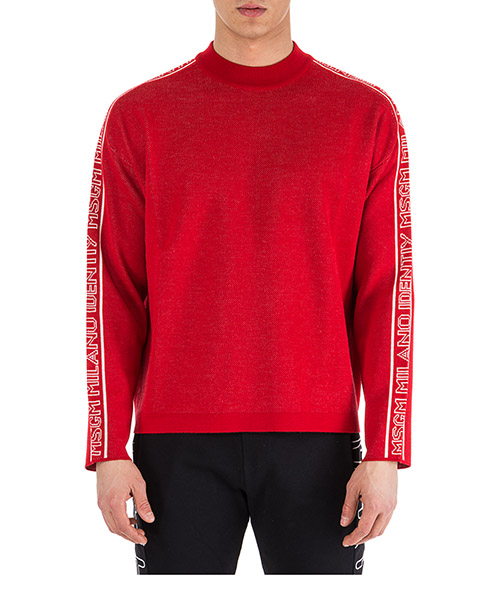 Pullover MSGM 2540MM113 184779 rosso