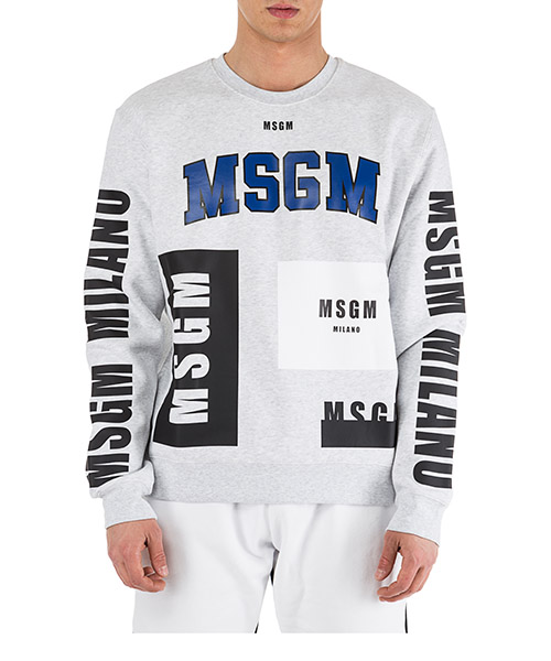 Sweat MSGM 2540MM173 184769 grigio