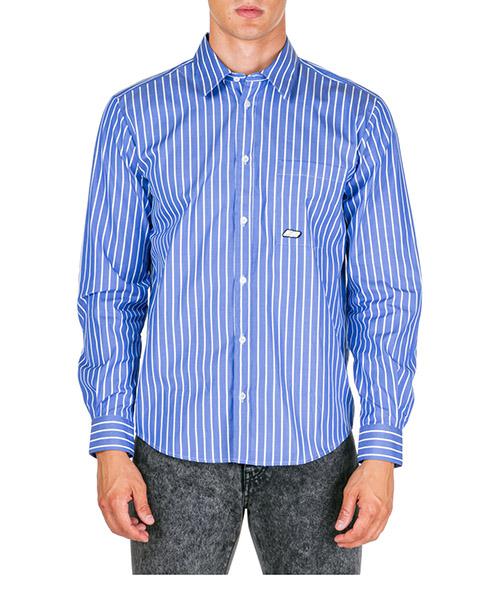 Camisa MSGM 2740ME04A 195507 85 blu