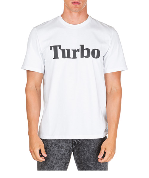T-shirt MSGM Turbo 2740MM103 195797 01 bianco