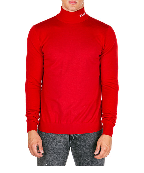 Pull col roulé MSGM 2740mm132 195582 18 rosso