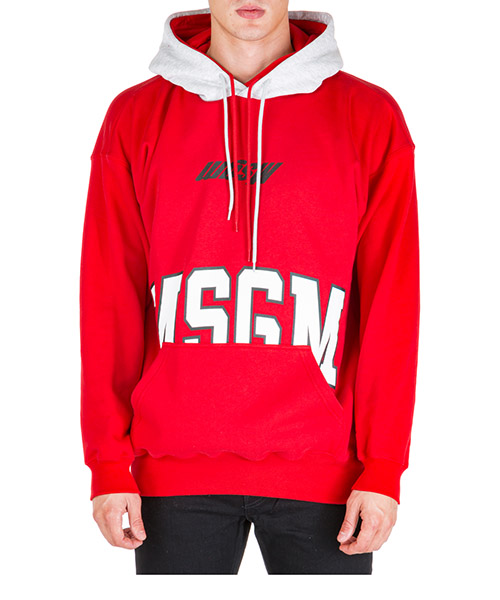 Hoodie MSGM 2740mm66 195799 18 rosso