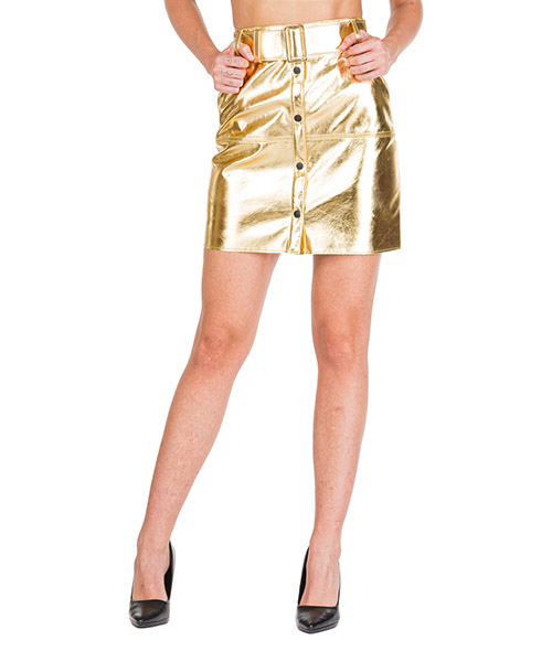 Mini skirt MSGM 2741MDD23 195616 oro