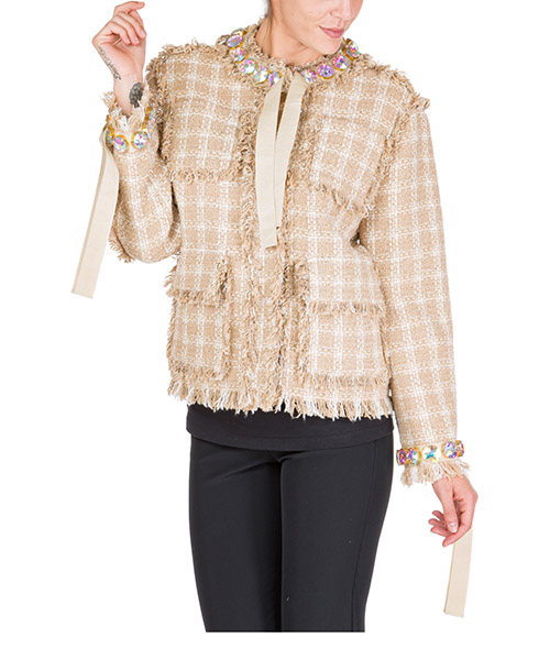 Куртка MSGM 2741mdg08x 195624 23 beige