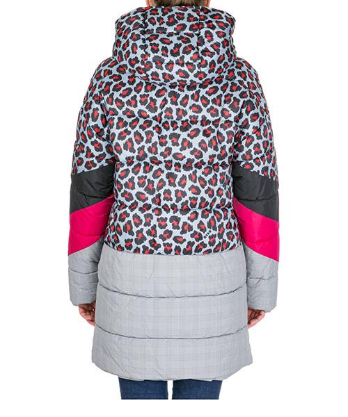Blouson femme en cuir à capuche secondary image