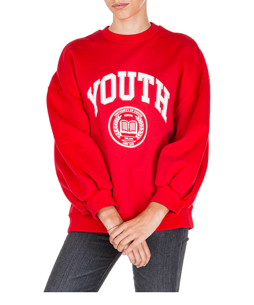 Sweat MSGM University Of Youth 2741MDM84 195799 18 rosso