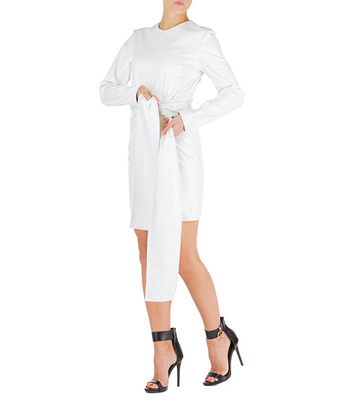 Vestito corto MSGM 2742mda131 195802 01 bianco
