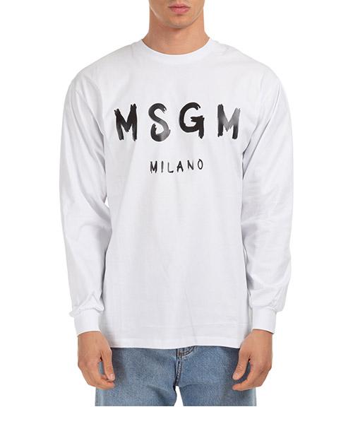 Long sleeve tops MSGM 2940MM10501 bianco