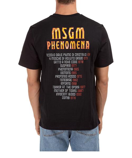 Men's short sleeve t-shirt crew neckline jumper dario argento x msgm secondary image
