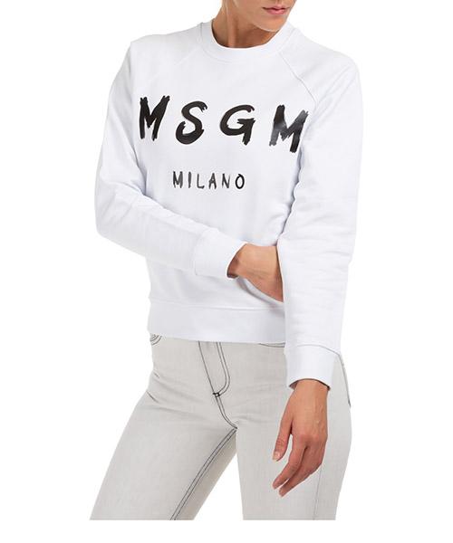 Sweatshirt MSGM 2941mdm8901 bianco
