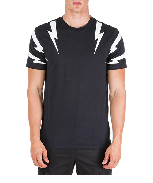 T-shirt Neil Barrett Tiger bolt BJT553SM508S 524 black / white