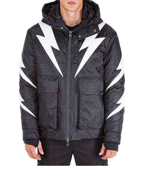 Winterjacke Neil Barrett Tiger bolt BSP452CM019C 524 nero