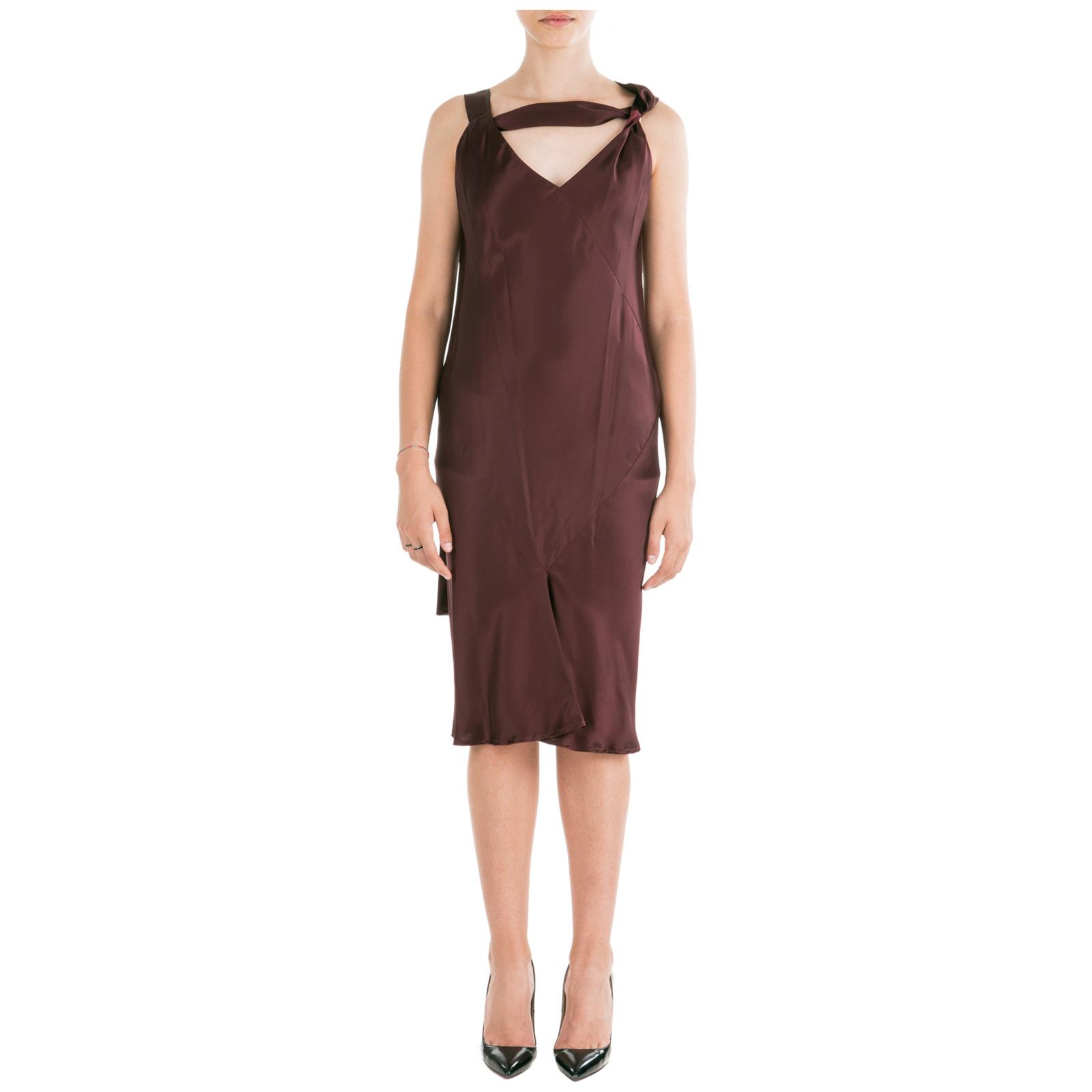 huge selection of 35e9c 984f0 Vestito abito donna al ginocchio senza maniche slim fit