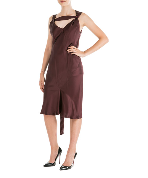 Knee length dresses Neil Barrett NVE495M092 944 bordeaux