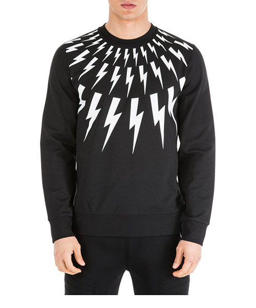 Sweatshirt Neil Barrett Fair-isle PBJS452SM557S 524 black